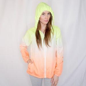 FILA Ombre Neon Windbreaker Jacket 0116